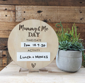 Daddy & Me Day / Mummy & Me Day Plaque