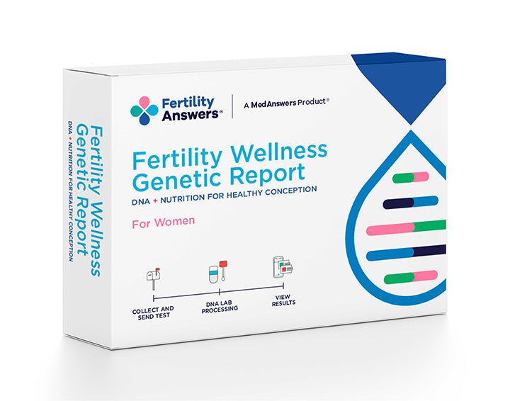 DNA Home Test Kit-Women's Fertility Check and Genetic Wellness Report - FertilityAnswers