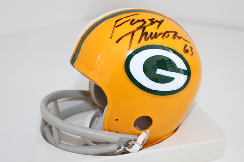 Packers Fuzzy Thurston Autographed Mini Helmet