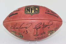 Dan Marino and Brett Favre Signed Football