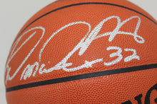 Karl Malone Game Leather Autographed/Signed Basketball