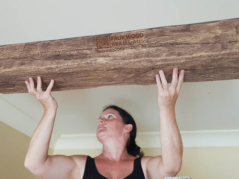 Faux Wood Beams Australia can be installed easily by anyone. Artificial Fake Faux Light Wood Beams for sale in Australia. We deliver to all States.
