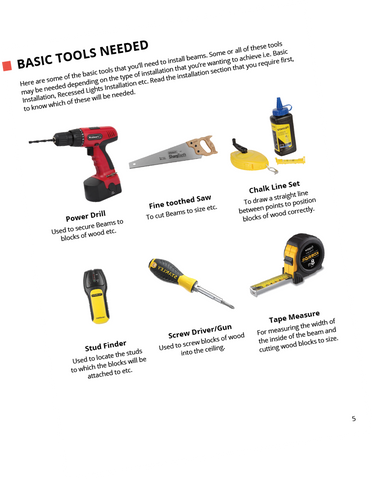 Faux Wood Beams Tools
