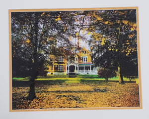 Ripy House Color Photo matted in orange and white