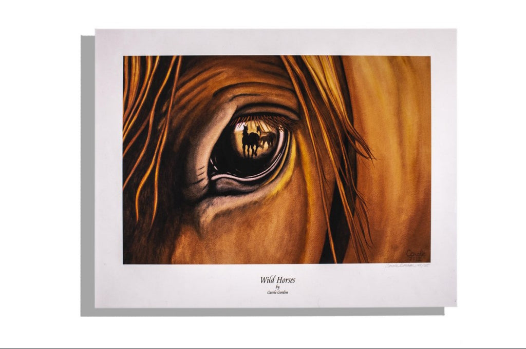 """Wild Horses"" signed print by Carole Gordon — 28/125 numbered"