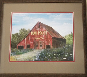 Mail Pouch Tobacco barn painting by Kenneth Shryock, signed