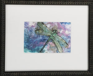 Framed art print of dragonfly