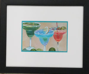 Framed art print of margaritas