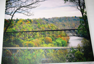 Color photo canvas of Young's High Bridge, Lawrenceburg, KY.