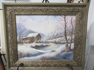"""Winter in the Woods"" Framed orignal canvas"