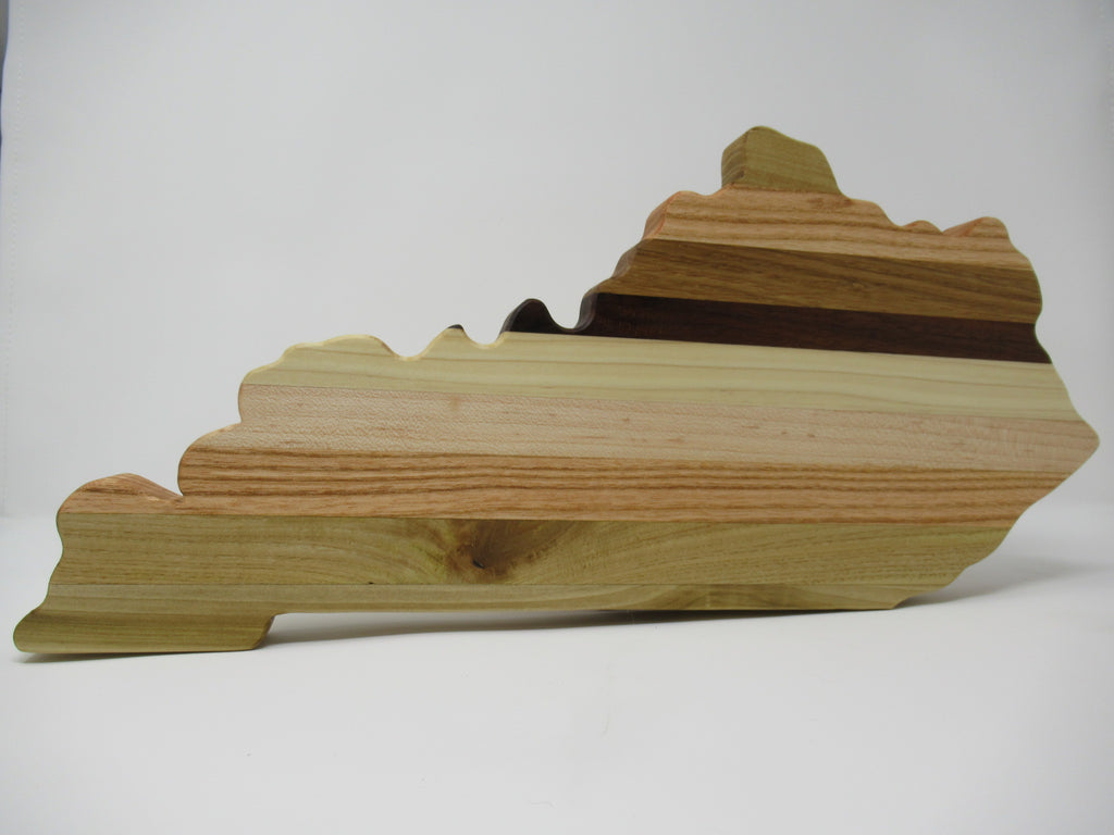Kentucky cutting board, mixed woods