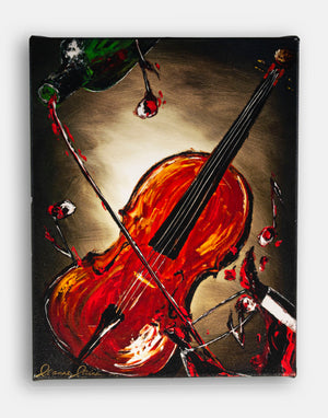 red wine violin giclee print