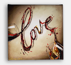 Love red wine giclee print