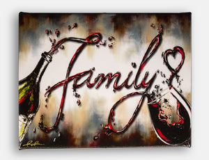 """Family II"" red wine splash giclee print"