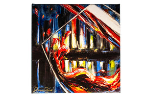 red, white blue wine giclee print
