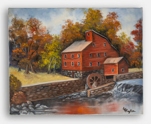 """The Old Mill"" original oil painting on canvas"