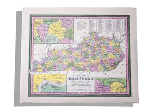 Historic maps of KY No. 6 University Press of KY print