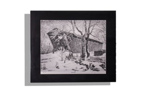 Snow at Switzer signed, numbered drawing print numbered 202/500