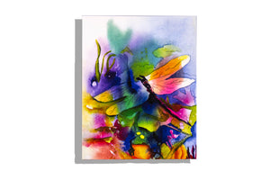 Dragonfly watercolor print by Dinah Tyree