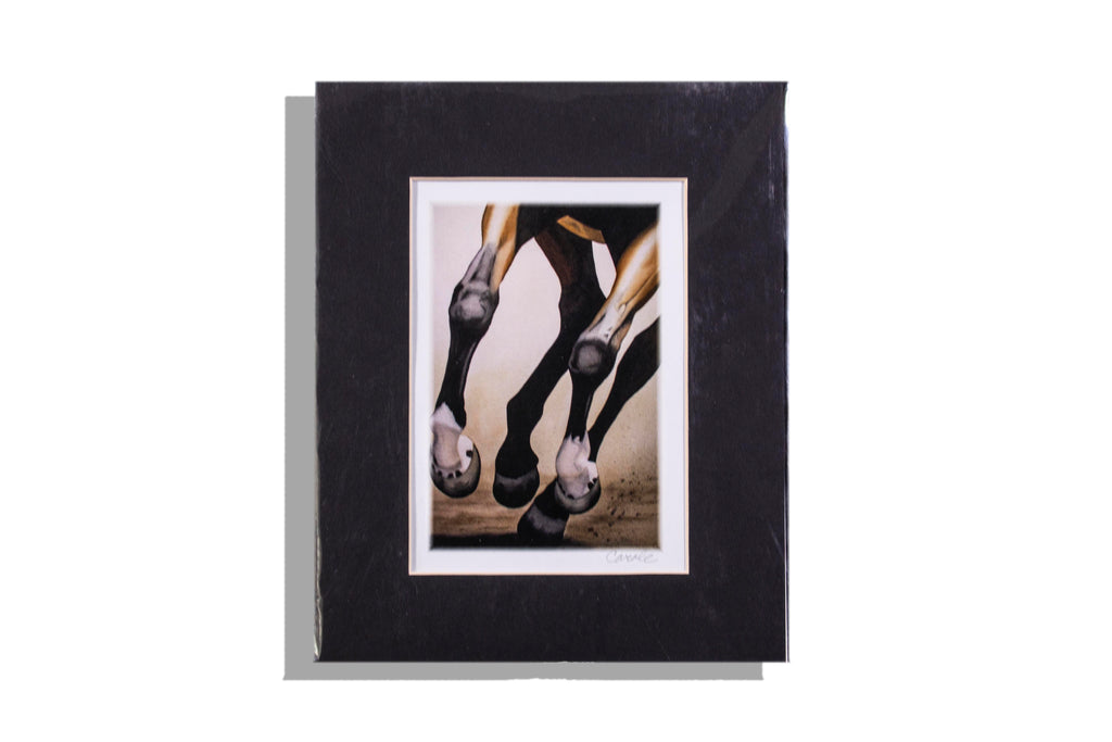 Pounding Hoofs At A Gallop — Matted Art Print by Carole Gordon