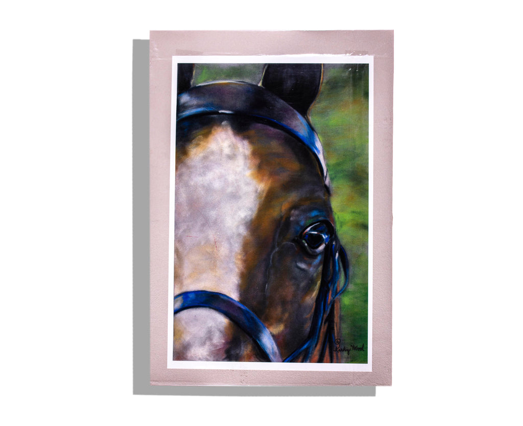 """Brown Horse"" by Kathy Wood - Signed Art Print (Unframed)"