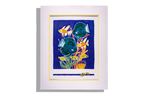 Judy Strom watercolor print, tropical fish