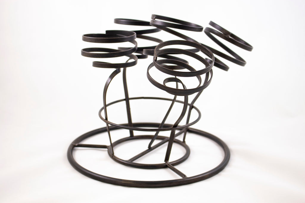 5 bottle wine holder, metal