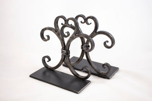 David Shadwick Fleur-de-lis Iron Book Ends