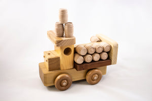 Handmade Wooden Bourbon Delivery Truck