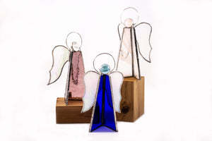 Stained glass free standing angels - Various Colors