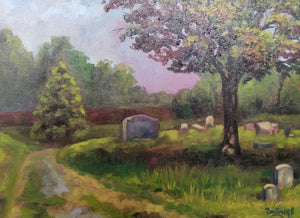 Peace at Eastern Cemetery original oil on canvas