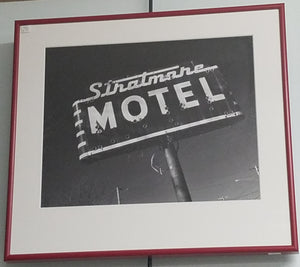 Stratmore motel black and white photo, Lawrenceburg, KY, framed