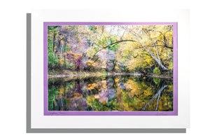 Salt River print, signed and double matted in lavender and white