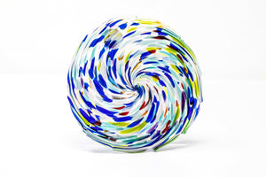 Glass hanging suncatcher, multicolored swirl