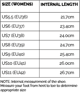 Clogs Size Guide