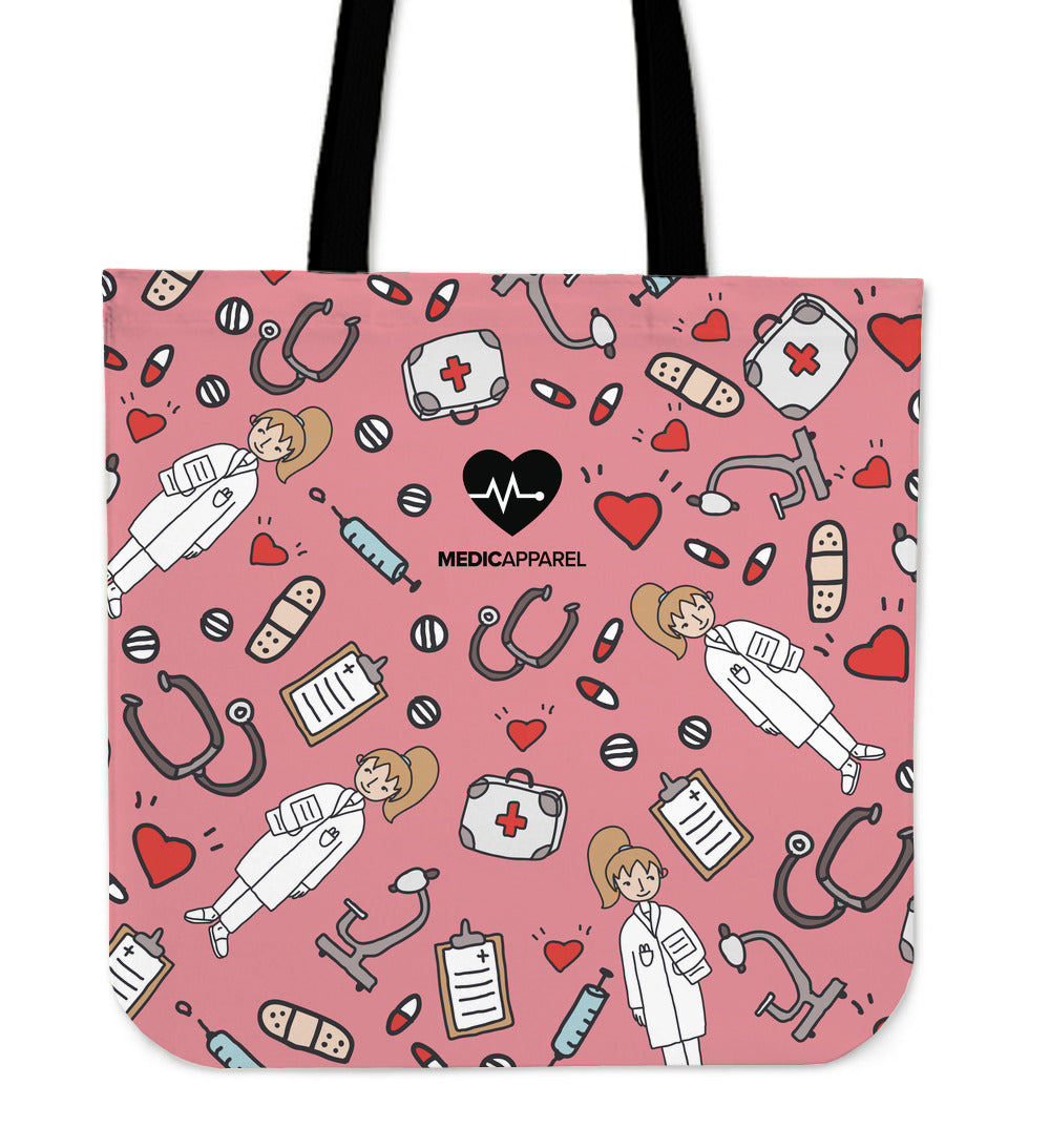 Premium Sketch Medical Women's Tote Bag