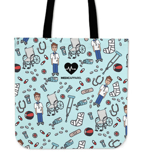 Premium Sketch Physio Men's Tote Bag - 3 Colours