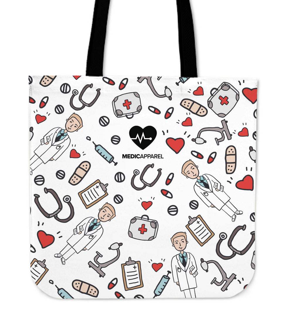 Premium Sketch Medical Men's Tote Bag