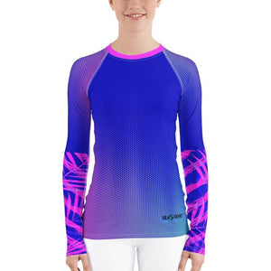 Speckled Palm Sea Skinz Performance Rash Guard UPF 40, from Find Your Coast Apparel at Moosestrum.com