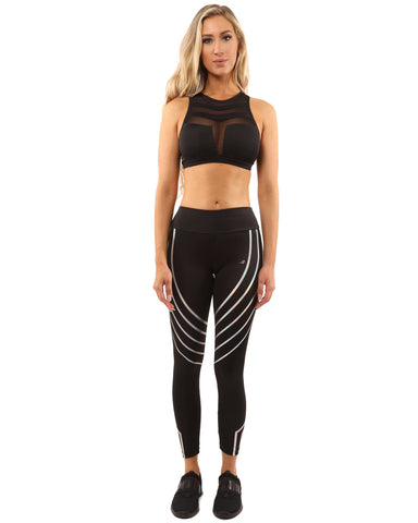 Laguna Leggings & Sports Bra Set in Black, from Savoy Active at Moosestrum.com