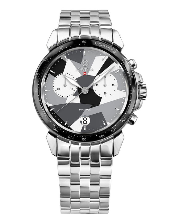 LeWy 15 Swiss Men's Black Watch with Silver J7.112.L from Jowissa Watches at Moosestrum.com