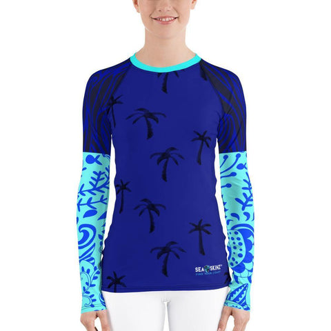 Destination Ocean Sea Skinz Performance Rash Guard UPF 40, from Find Your Coast Apparel at Moosestrum.com