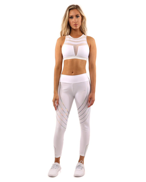 Laguna Leggings & Sports Bra Set in White, from Savoy Active at Moosestrum.com