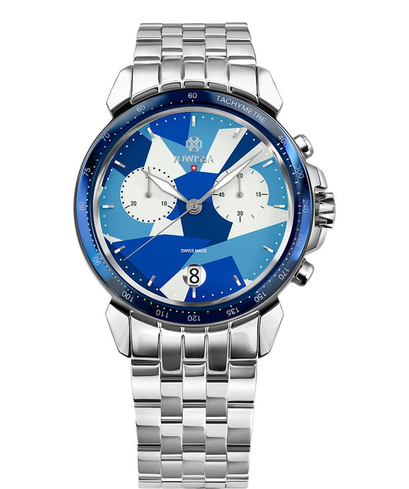 LeWy 15 Swiss Men's Blue Watch with Silver J7.113.L from Jowissa Watches at Moosestrum.com
