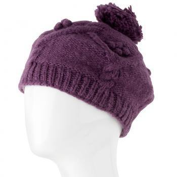 Australian Merino Wool Raspberry Beret from The Brooklyn Bag Company at Moosestrum.com