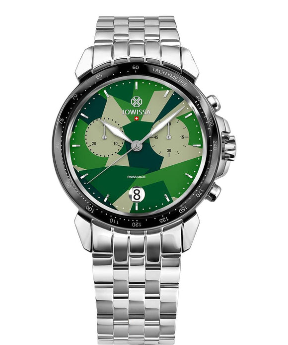 LeWy 15 Swiss Men's Green Watch with Silver J7.114.L from Jowissa Watches at Moosestrum.com