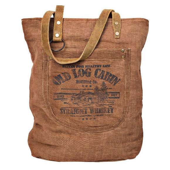 Old Log Cabin Tote, from The Brooklyn Bag Company at Moosestrum.com