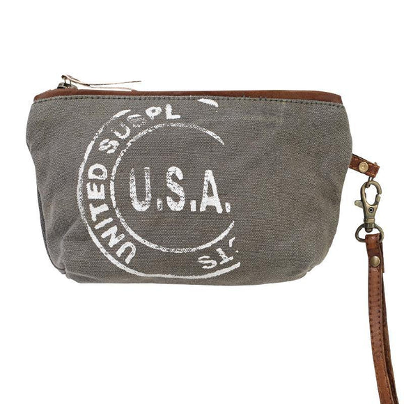 USA Stamped Clutch, from The Brooklyn Bag Company at Moosestrum.com