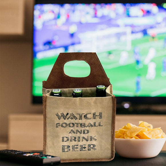 Watch Football Beer Carrier, from The Brooklyn Bag Company at Moosestrum.com