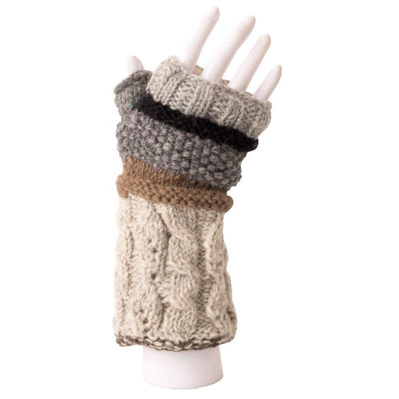 Unisex Australian Merino Wool Heavyweight Fingerless Gloves from The Brooklyn Bag Company at Moosestrum.com
